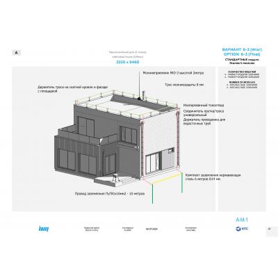 Проект молниезащиты| Молниезащита дома 10 на 10 метров с плоской крышей