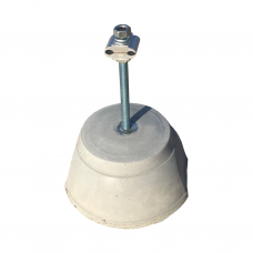 Держатель токоотвода бетонный для плоской крыши