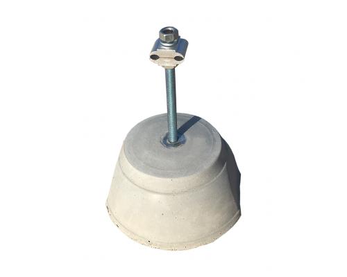 Держатель токоотвода D10-12мм бетонный для плоской крыши