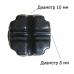 Держатель токоотвода D8мм и D10мм с бетоном для горючей плоской кровли | Высота 120мм