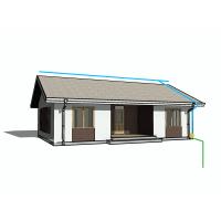 Комплект молниезащиты для дома 15х10 метров | Натяжная система Perun