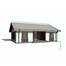 Комплект молниезащиты для дома 10х10 метров | Натяжная система Perun